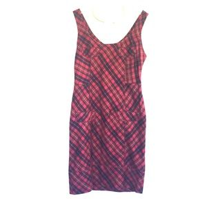 L.A.M.B. Red dress plaid 2007 Collection
